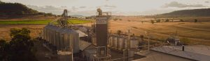 View of Kialla Mill looking west over the silos