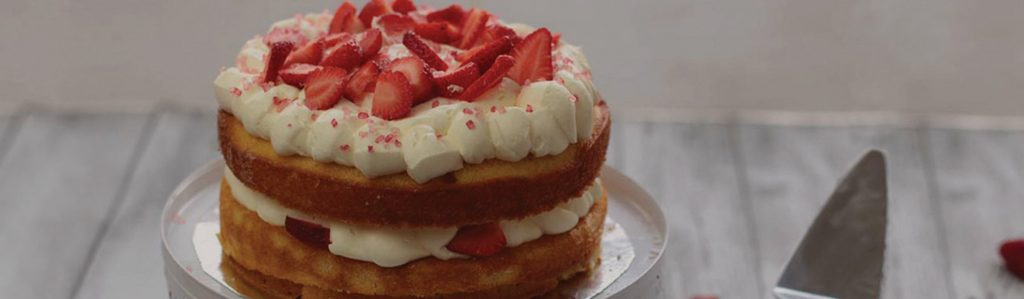 Sponge cake made with Kialla's Organic Soft Cake Flour