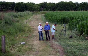 Quentin, Steve and Gordo in the Maize field