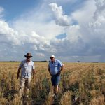 小麦畑でのピートとジェフさん