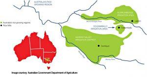Rice growing region of Australia