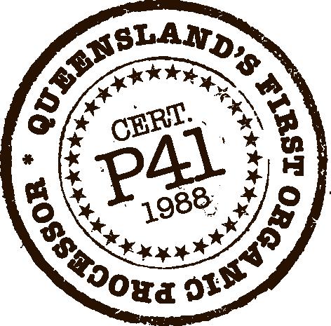 Kialla's original organic certification number was P41
