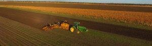 Rob planting organic wheat crop in 2015