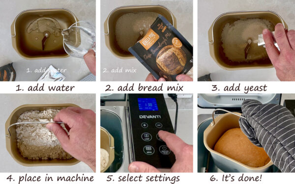 Kialla's Artisan Bread Mixes can be baked in your bread machine