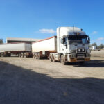 Danny's truck is loaded and ready to cart the grain to Kialla mill