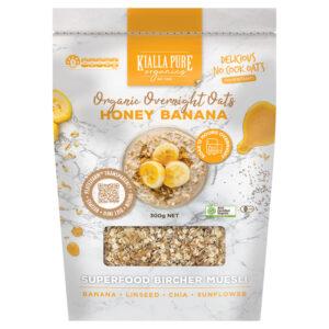 Honey Banana Organic Overnight Oats