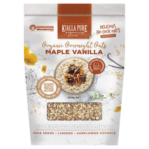 Maple and Vanilla Overnight Oats