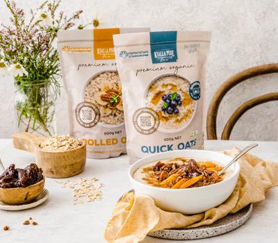 Kialla's very popular rolled oats