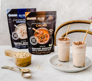 Organic Protein Smoothies made with oats and superfoods