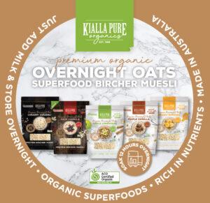 Kialla's overnight oats collection