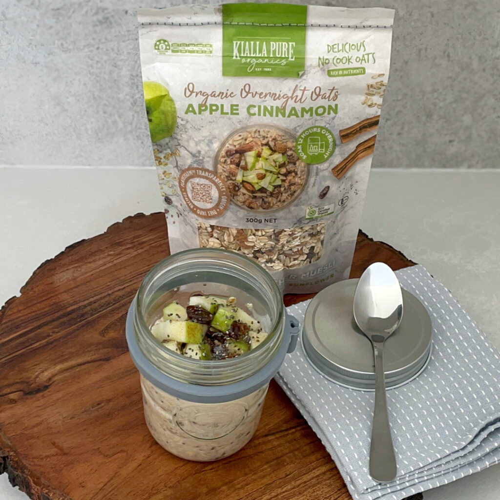 Soak your oats overnight to maximise nutrition and taste