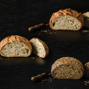 three varieties of artisan bread mixes