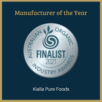 Australian Organic Industry Awards finalist for Manufacturer of the Year 2021